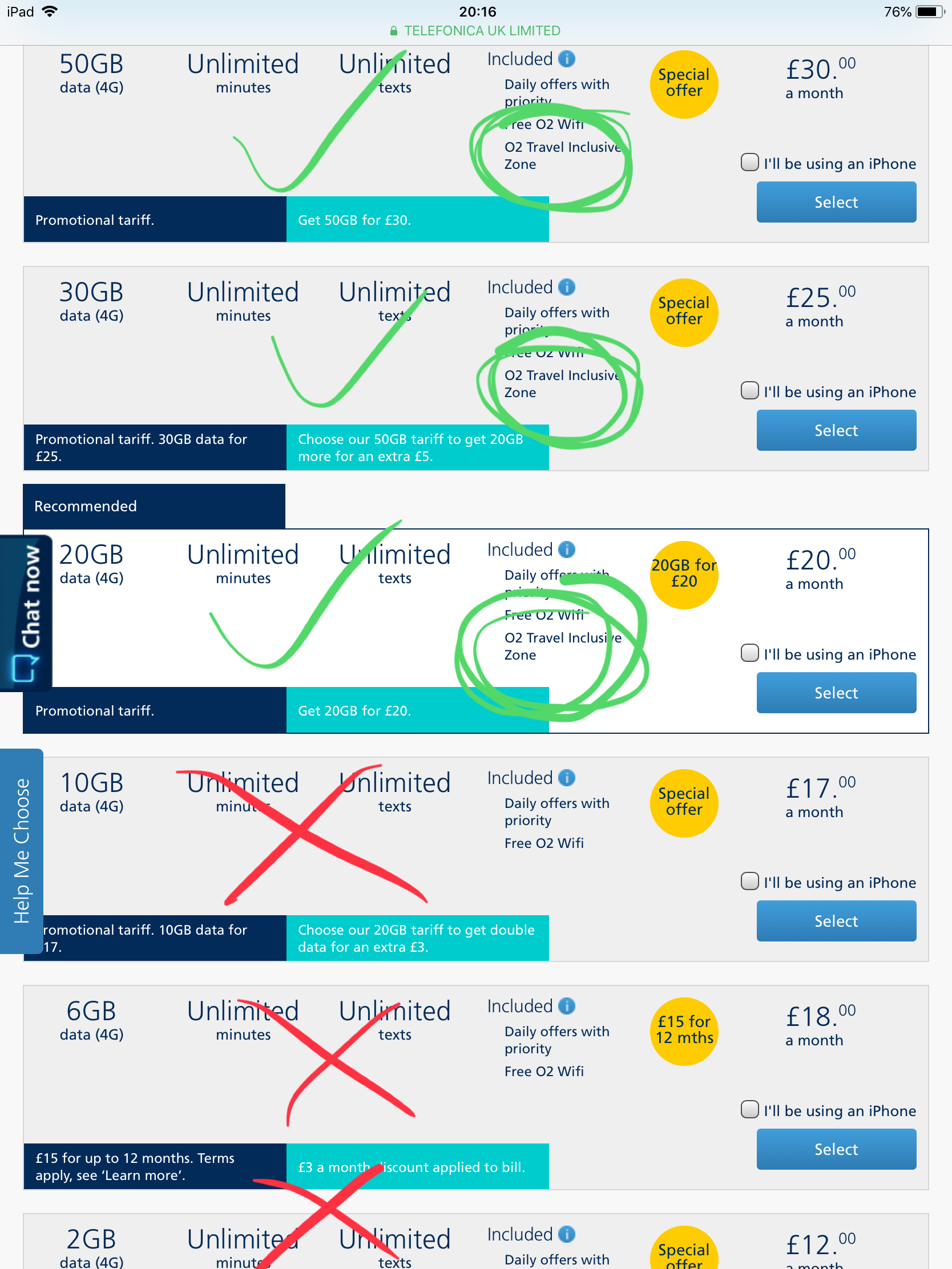 O2 Contract With O2 Travel Inclusive 75 Free Coun O2