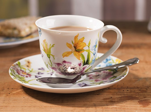 Flower cup and saucer Katie Alice