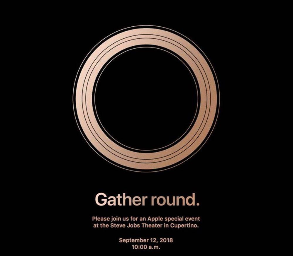 Gather Around Apple Invite