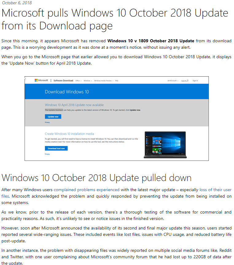 20**Personal info** 12_26_17-Windows 10 October 2018 Update pulled down.png