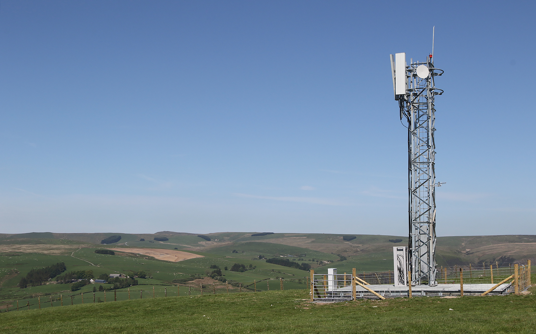 Photo of a telephone mast in rural Scotland