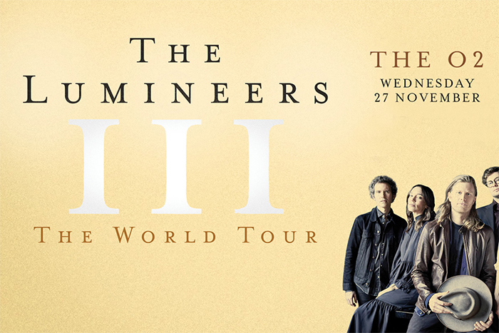 The Lumineers at the O2 on 27th November