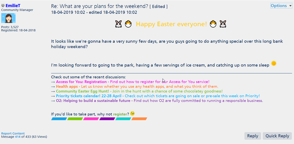 20**Personal info** 15_53_58-Re_ What are your plans for the weekend_ - Page 14 - O2 Community.png