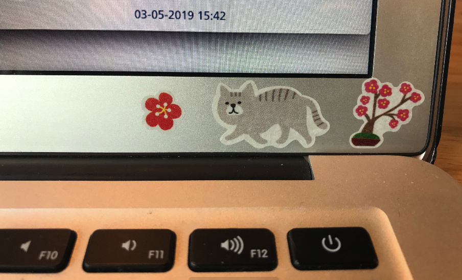 Photo of my laptop stickers