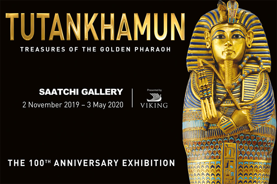 Photo of the Tutankhamun exhibition leaflet