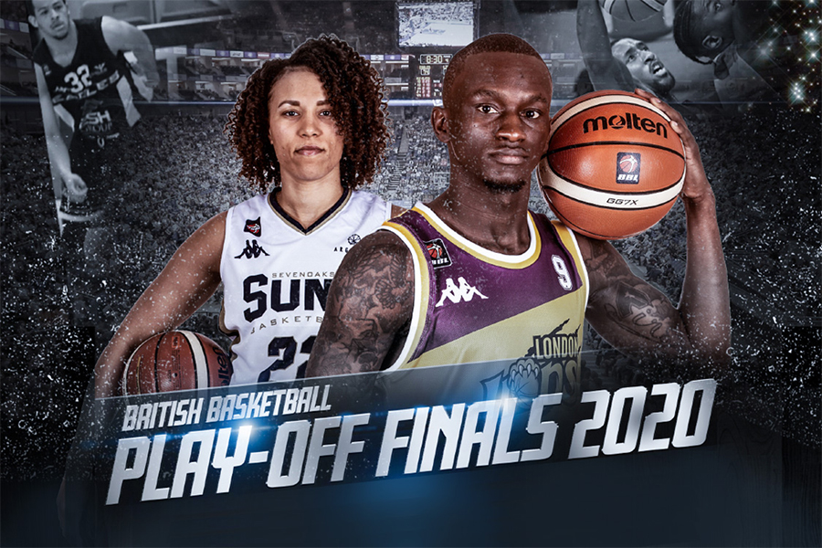 Promo picture of a female and male basketball players