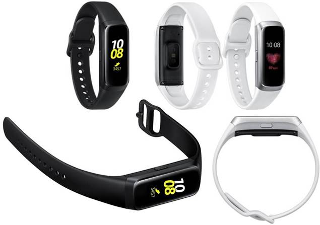 Samsung Galaxy Fit in black and silver white colours