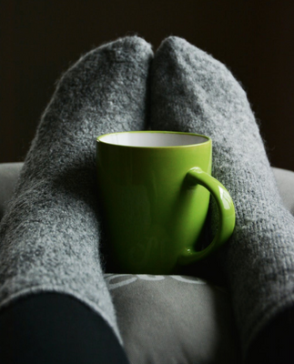Cozy mug and socks