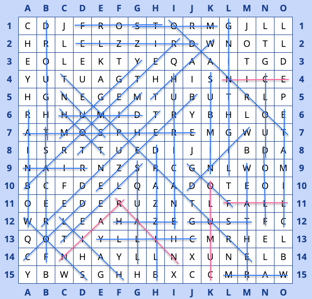 Word search grid