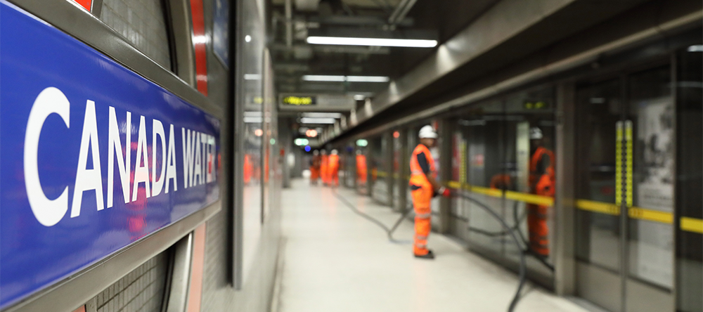 4G Technology being installed at Canada Water tube station