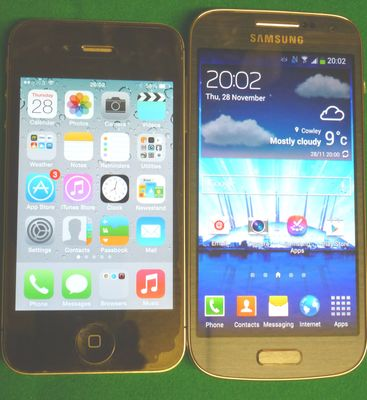 S4 Mini v iPhone