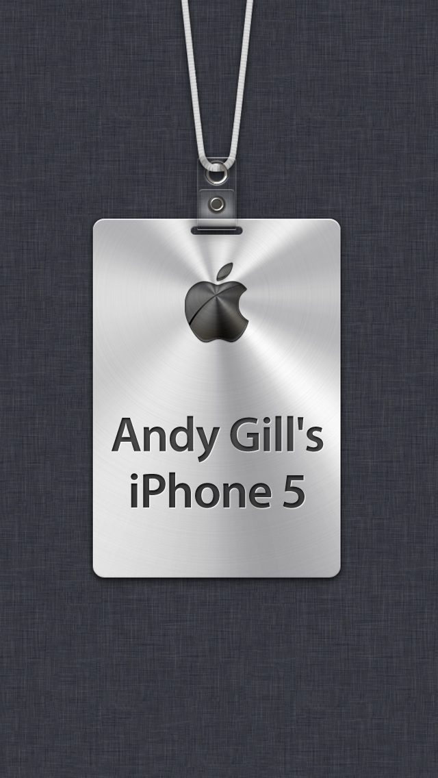Iphone 5 name tag wallpapers page 8 o2 community andy gills iphone 5g voltagebd Image collections